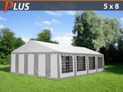 Marquee PLUS 5x8 m PE,  Grey/white
