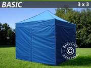 Folding canopy FleXtents 3x3 m basic set Blue
