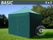 Folding canopy FleXtents 3x3 m basic set Green