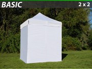 Folding canopy FleXtents 2x2 m basic set White