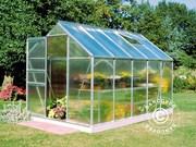 6, 2 m² Halls Popular Poly greenhouse