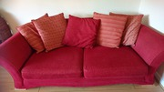 Red 3and 2 seater couch