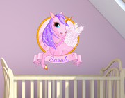 Unicorn Name Wall Sticker
