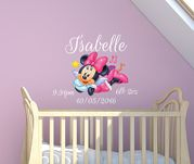 Minnie Mouse Date of Birth Name Wall Deca