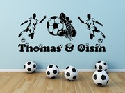 Football boys names wall art decal sticker