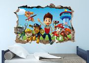 Paw Patrol 3D Smashed Wall Decal