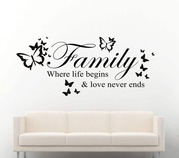 Family where life begins butterflies