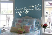 Sweet dreams personalised wall decal sticker