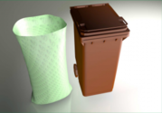 140 Litre Compostable wheelie Bin